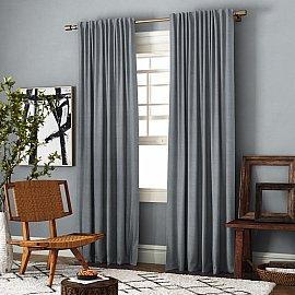 Комплект штор Ибица, серый, 200*270 см