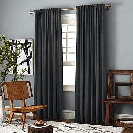 Комплект штор Ибица, темно-серый, 200*270 см
