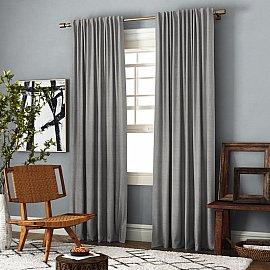 Комплект штор Ибица, бежево-серый, 140*270 см