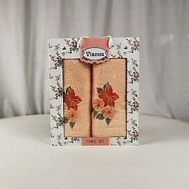 Комплект махровых полотенец Vianna Luxury Series дизайн 13 (50*90; 70*140)