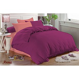 КПБ мако-сатин Anna (1.5 спальный), фиолетовый