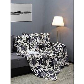 """Плед микрофайбер Absolute """"Цветы абстрактные синие"""", синий, 150*200 см"""