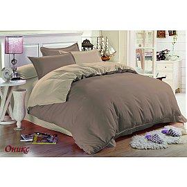 КПБ мако-сатин жатый Оникс (2 спальный), бежевый