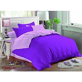 КПБ мако-сатин жатый Гранат (Евро), фиолетовый