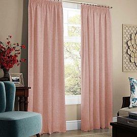 """Комплект штор с подхватами """"Софт"""", светло-розовый, 240*270 см"""