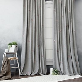 "Комплект штор ""Мика"" , серый, 145*270 см"