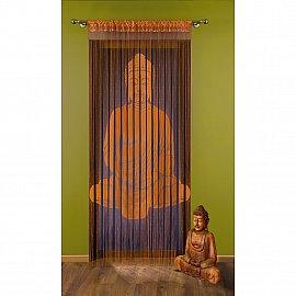 Кисея нитяная штора Delaware на кулиске, Оранжевый, 150*240 см