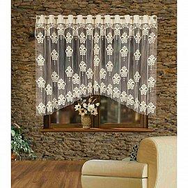 Кисея нитяная штора Tutku на кулиске, Кремовый, 280*160 см