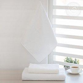 Полотенце махровое отбеленное, белый, 50*90 см
