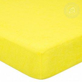 """Простынь махровая на резинке """"Лимон"""", арт. 275, 180*200 см-A"""