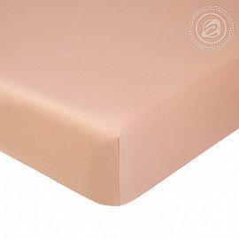 Простынь сатин на резинке, бежевый, арт. 834_гк, 160*200 см