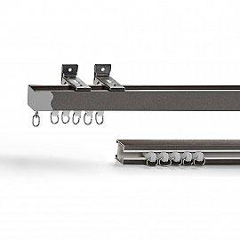 Карниз профильный алюминиевый, 1-рядный, графит, 200 см