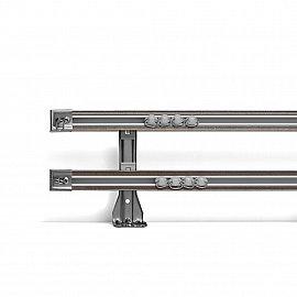 Карниз профильный алюминиевый, 2-рядный, графит, 300 см