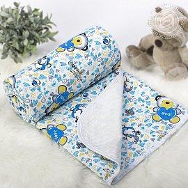 """Одеяло-покрывало трикотажное """"Карапуз голубой"""", 100*140 см"""