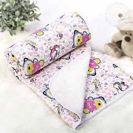 """Одеяло-покрывало трикотажное """"Карапуз розовый"""", 140*200 см"""