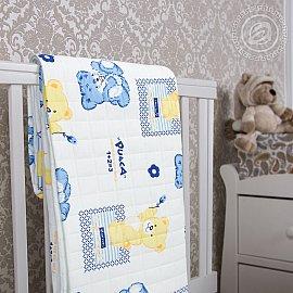 """Одеяло-покрывало трикотажное """"Медвежата"""", 140*200 см"""