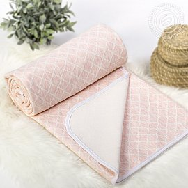"""Одеяло-покрывало трикотажное """"Ромбы розовые"""", 100*140 см"""