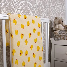 "Одеяло-покрывало трикотажное ""Утенок"", 100*140 см"
