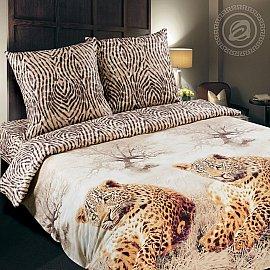 """КПБ поплин De Luxe """"Леопард"""" (2 спальный)"""
