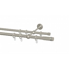Карниз металлический Arttex с наконечником №49, 2-рядный, сталь, ø 20 мм, ø 16 мм