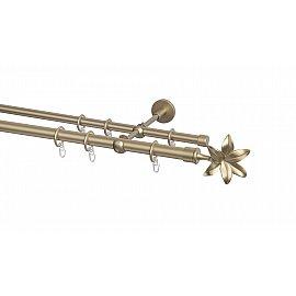 Карниз металлический Arttex с наконечником №87, 2-рядный, бронза, 320 см, ø 20 мм, ø 16 мм