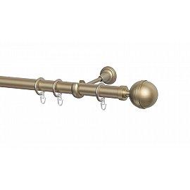 Карниз металлический Arttex с наконечником №254, 1-рядный, бронза, 160 см, ø 28 мм