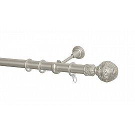 Карниз металлический Arttex с наконечником №255, 1-рядный, сталь, ø 28 мм