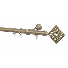 Карниз металлический Arttex с наконечником №260, 1-рядный, бронза, 160 см, ø 28 мм