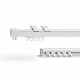 Карниз профильный пластиковый, 1-рядный, белый, 300 см