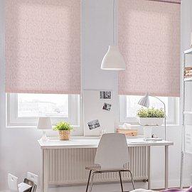 """Рулонная штора ролло """"Волнистые узоры"""", розовый, 140 см"""