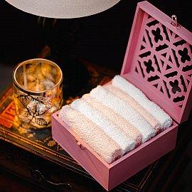Набор полотенец Arya Case Pink, белый, розовый, 30*30 см - 6 шт