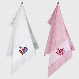 Набор кухонных полотенец с вышивкой Heartst-1, 45*65 см - 2 шт