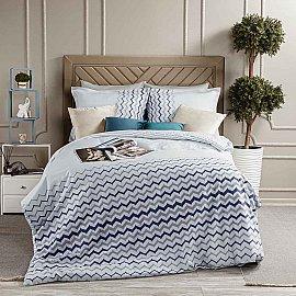 КПБ Arya Simple Living Lita (1.5 спальный), серый с синим