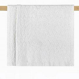 Плед вязаный Arya 2103A-042, белый, 127*152 см