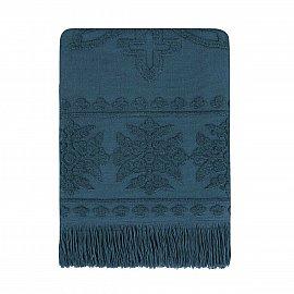 Полотенце с бахромой Arya Boleyn, темно-синий, 50*90 см