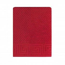 Полотенце жаккард Arya Meander, красный, 50*90 см