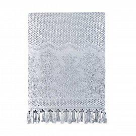 Полотенце жаккард с бахромой Arya Rita, серый, 50*90 см
