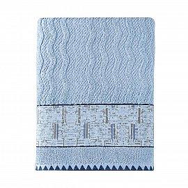 Полотенце жаккард Arya Teide, голубой, 50*90 см
