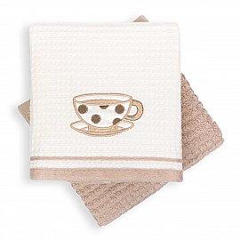 Набор кухонных полотенец Arya Tea Time-2, кремово-бежевый, 40*60 см - 2 шт