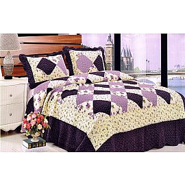 Покрывало Танго PATCHWORK 333, фиолетовый, кремовый, 230*250 см
