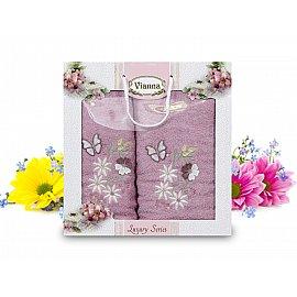 Комплект махровых полотенец Vianna Luxury Series дизайн 07 (50*90; 70*140)