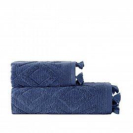 Полотенце жаккард с бахромой Arya Duma, голубой, 70*140 см