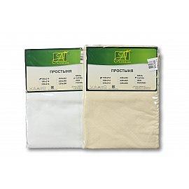 Простынь сатин жаккард на резинке, белый, 140*200*25 см