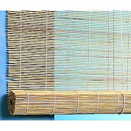 Бамбуковая рулонная штора, натур, 80 см