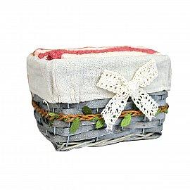 Комплектиз 6-ти полотенец Arya Leave (30*30 см), кирпичный, персиковый