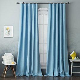 Комплект штор БИЛЛИ, голубой, 270 см