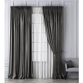 Комплект штор Шанти, серый, 240*270 см