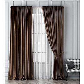 Комплект штор Шанти, коричневый, 170*270 см