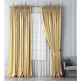 Комплект штор Шанти, золотой, 240*270 см