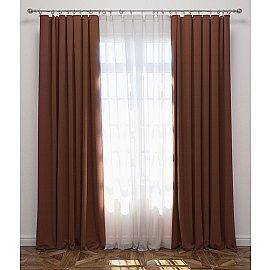 Комплект штор Блэкаут, коричневый, 170*270 см